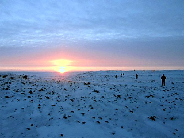 Солнечная ночь Арктики.